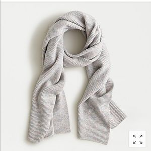 J crew ribbed scarf in supersoft yarn
